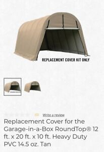 ShelterLogic Replacement Cover Kit Tan Garage-in-a-Box Round 12x20x10 805214
