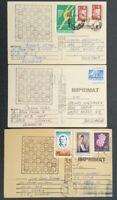 ROMANIA 1977/78, CORRESPONDENT CHESS, 3 POSTCARDS TO BULGARIA, FREE SHIPPING!!!