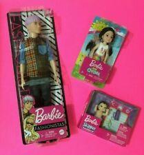 3 Asian Barbie Dolls Fashionistas Ken Cool Asian Dude GHW70 + Baby + Chelsea