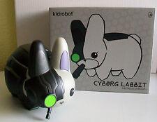 """KIDROBOT 7"""" labbit figure cyborg noir nemesis edition-conçu par frank KOZIK"""