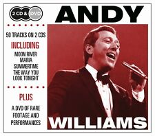 2 CD BOX plus DVD ANDY WILLIAMS MOON RIVER MARIA SUMMERTIME UNCHAINED MELODY ETC