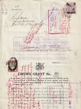 1913 South Africa Crown Grant with Inter-Provincial Fine Used Revenues.