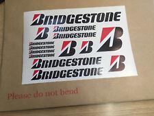 BRIDGESTONE  Sheet of 14 decal / stickers Sponsor set