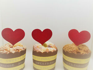 Heart Cupcake Topper, Valentine's Day Cupcakes, Valentine's Cupcake Toppers