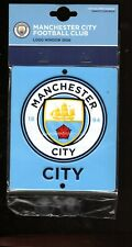 MANCHESTER CITY F.C. OFFICIAL METAL CREST WINDOW SIGN CITY