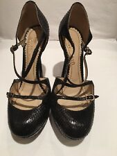 John Galliano Authentic Black Python Pump Shoes Size 36 1/2.