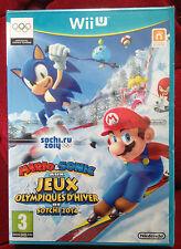 MARIO ET SONIC AUX JEUX OLYMPIQUE D'hiver SOTCHI 2014 Nintendo Wii U WIIU + NEUF