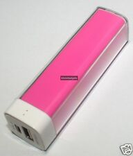 Power Bank 2600mAh For iPhone Samsung Nokia Sony Cellphone Phablet(Pink)