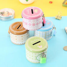 Round Piggy Bank Cartoon Creative Money Saving Box Coin Storage Case with Lock