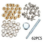 62pcs Stainless Steel Canvas Screw Press Stud Snap Fasteners Kit Boat Cover ^