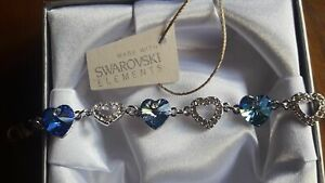 Gift Boxed Blue Sapphire Bracelet Made With Swarovksi® Crystals