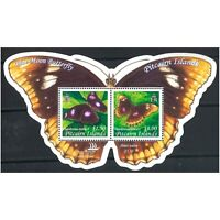 Pitcairn Islands 2005 Blue Moon Butterfly Stamp Miniature Sheet Mint Unhinged