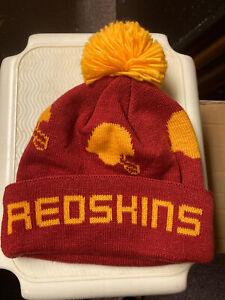 Washington Redskins NFL knit Toboggan cap Cuff/pom  beanie Mitchell&Ness NEW