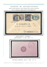Guatemala: 1899; Postal Stationery used, cancellation: Quezaltenango EBG114