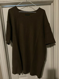Fear of God Inside Out Terry Tee Mocha Brown Size XL 7th Collection Seventh $400