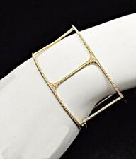Delicate 18k Yellow Gold Diamond Pave Cuff Bracelet-Pictures don't do justice