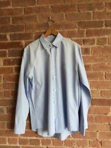 Jil Sander Mens Dress Shirt Minimal Light Blue 100% Cotton Italy Size 42