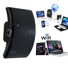 300Mbps N 802.11 AP Wireless Wifi Router Repeater Range Extender Booster Black