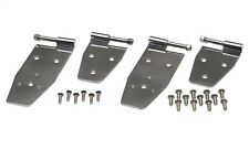 Jeep Wrangler YJ Hardtop Door Hinge Set 4 Pcs Polished Stainless 1994-1995 30469
