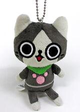 Banpresto Monster Hunter 4.5'' Cute Mascot Plush Keychain BP36226~ Felyne Melynx