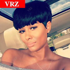 100% Human Hair Wigs Short Straight Classic Cap Guleless Wig for Black Women