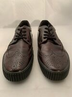 T.U.K. Men's Burgundy Leather Wing Tip  Pointed Toe Sneaker Shoes Size 11