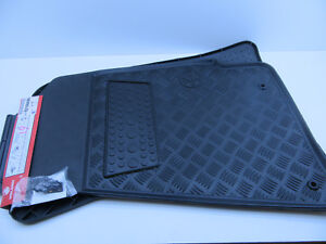 Black rubber Floor Mats Front Set of 2 VY VZ COMMODORE HOLDEN GENUINE HEAVY DUTY