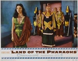 MOVIE FILM FOOTAGE JOAN COLLINS LAND OF THE PHARAOHS 1955 2 SPOOLS 16mm b/w