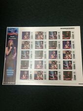 U.S. Photo Stamps Featuring Kelly Clarkson. Michigan Limited Edition.