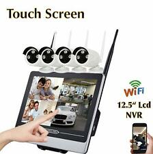[On Sale] Touch Screen Waterproof 4 CH 720P, WIFI NVR CCTV, Home Security Camera