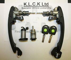 VW SEAT SKODA  Lockset - Valeo Original - Keys HU66 ID48 Set 2