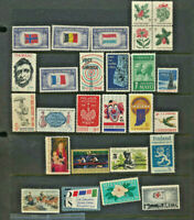 US Collection 27 Different Vintage Mint Never Hinged 5 Cent Commemorative Stamps