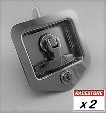 Folding T Handle Lock (2 PACK - STUD Fix) - Trailer Toolbox Truck Ute