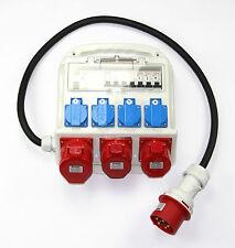 Stromverteiler FI-Schutzschalter Baustromverteiler 4x230V /3x 400V 1x32A/2x16A