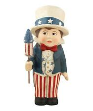 Liberty Sammy - Patriotic American Star & Stripes Figurin - Bethany Lowe Td5020