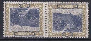 Saargebiet 1921 Kehrdruck Michel Nr. 53 II 53 III oder 53 IV Postfrisch **