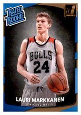 2017-18 Donruss Rated Rookie Lauri Markkanen Bulls #159 NBA RC PWE