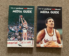 2 Portland Trailblazers Media Guides 1986/87, 87/88 Clyde Drexler