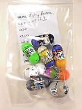 Mighty Beanz Moose Bean Lot of 8, 2004 & 2010 Jupiter,Yeti,Raptor,Bulldog,etc.