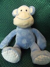 "NEXT BLUE BABY MONKEY SOFT TOY BEANIE PLUSH COMFORTER TEDDY 10"" APPROX TALL CUTE"
