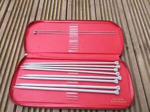 Vintage Knitting Needles In Case. Aero Needles and case Redditch England