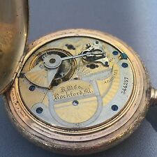 Rockford  18 Size Hunter Pocket Watch. Gold Filled. Rare Movement.  Non Working