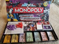 TRANSFORMERS Monopoly Collectors Edition Pewter Hasbro 2009 Very Rare CE