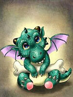 5D Full Diamond Painting Cartoon Pterosaurs Baby Dragon Fashion Handicraft 6014X