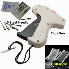 Sock Clothes Garment Price Label Tagging Tag Gun Machine+1000 Barbs+5 Needles