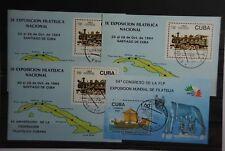 B2 Karibischer Inselstaat Block 87 gestempelt 3 Stück & Block 91 gestempelt