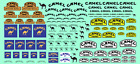 Decalcomanie Decals CAMEL Trophy Tabac decal 1/43 1/32 1/24 1/18 rally