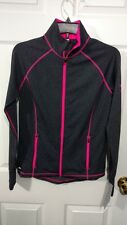 New IDEOLOGY Women's Full Front Zip Fitness Jacket Heather Charcoal NEVER QUIT S