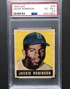 1948 Leaf Jackie Robinson ROOKIE RC #79 PSA 4.5 VG-EX+ Nicely Centered