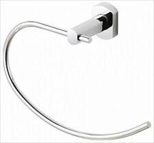 SOLID BRASS CHROME FINISH CUBARC BATHROOM TOWEL RING ENSUITE SLOEGRIN 0360